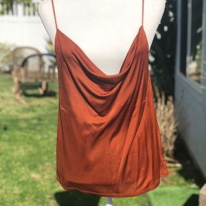 Copper Rayon Tank Top Anthropologie
